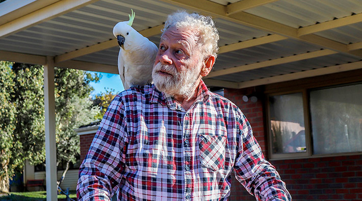 Crestwood Resident with Cockatoo